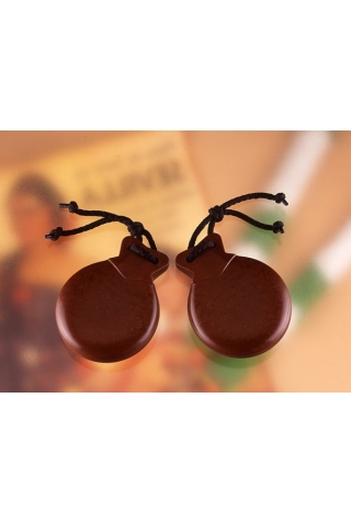 Orozco Castanets Brown Fabric No. 7 Professional