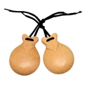 Castanets Natural Polished, Semi Professional