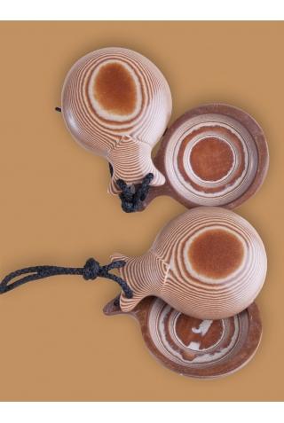 Castagnettes Caprice Tissu Caramel Veiné pour Professionnels, les Distinguées.