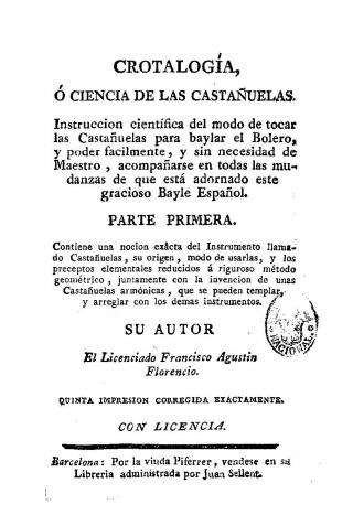 """""""Crotalogía ou Science des Castagnettes"""""""