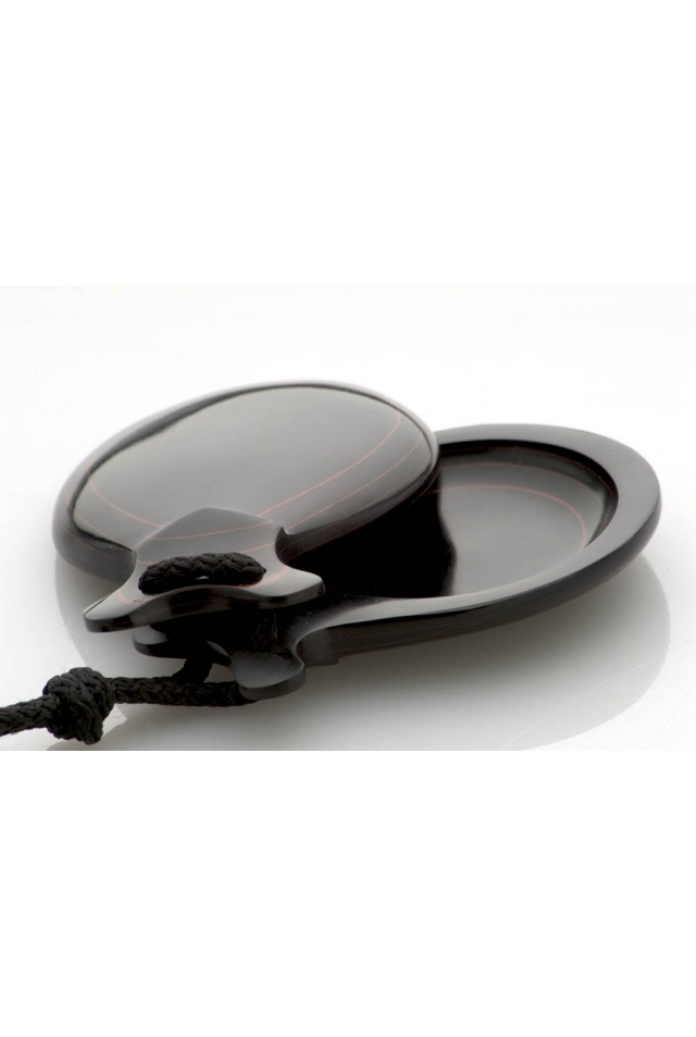 Marbled black fiber Castanets Special Teachers, the Stamped