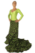Falda de Cola Flamenca Caracoles