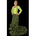 Tail Skirt Caracoles Flamenco Dance