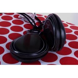 Castagnettes Fibre Noire Veinée Blanche pour Professionnels, les Caractères