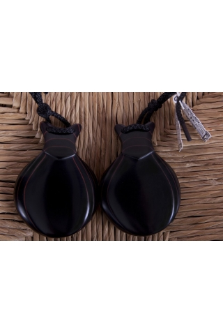 Professional Marbled Black Fiber Castanets, the Artist