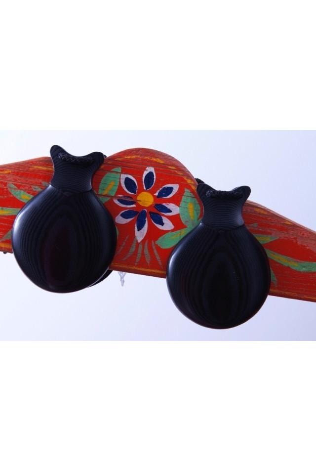 Professional Black Fabric Castanets, la Morena